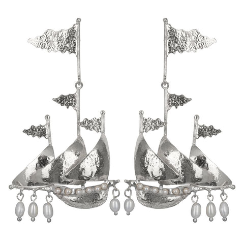 Capitana Earrings Silver