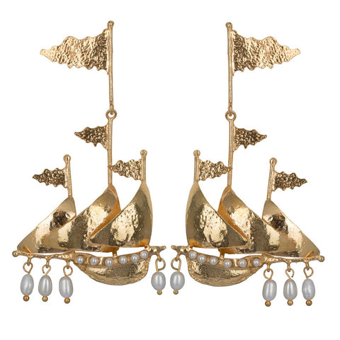 Capitana Earrings Gold
