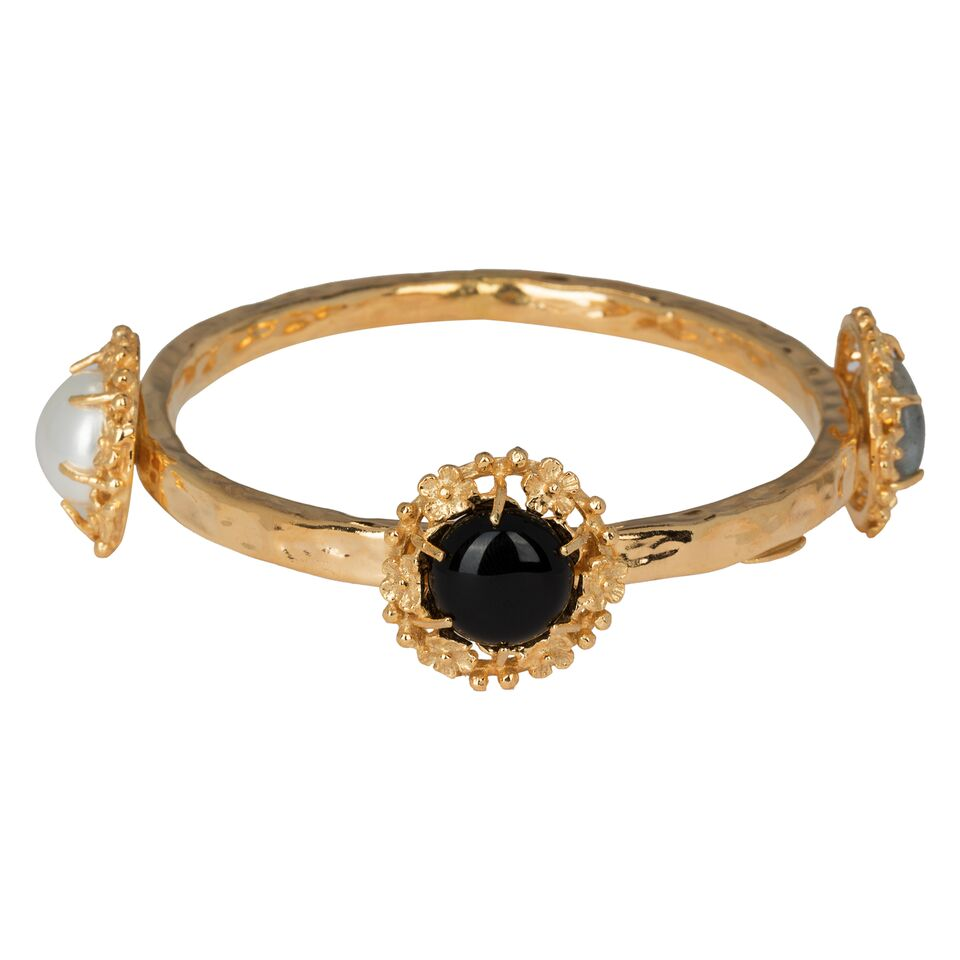 Balbina Bangle Black/Pearl