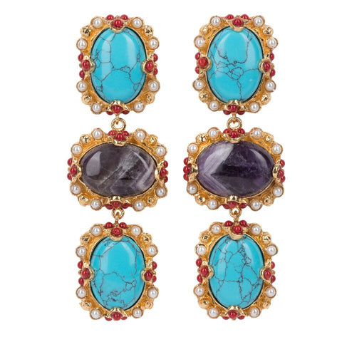 Allegra Earrings Turquoise