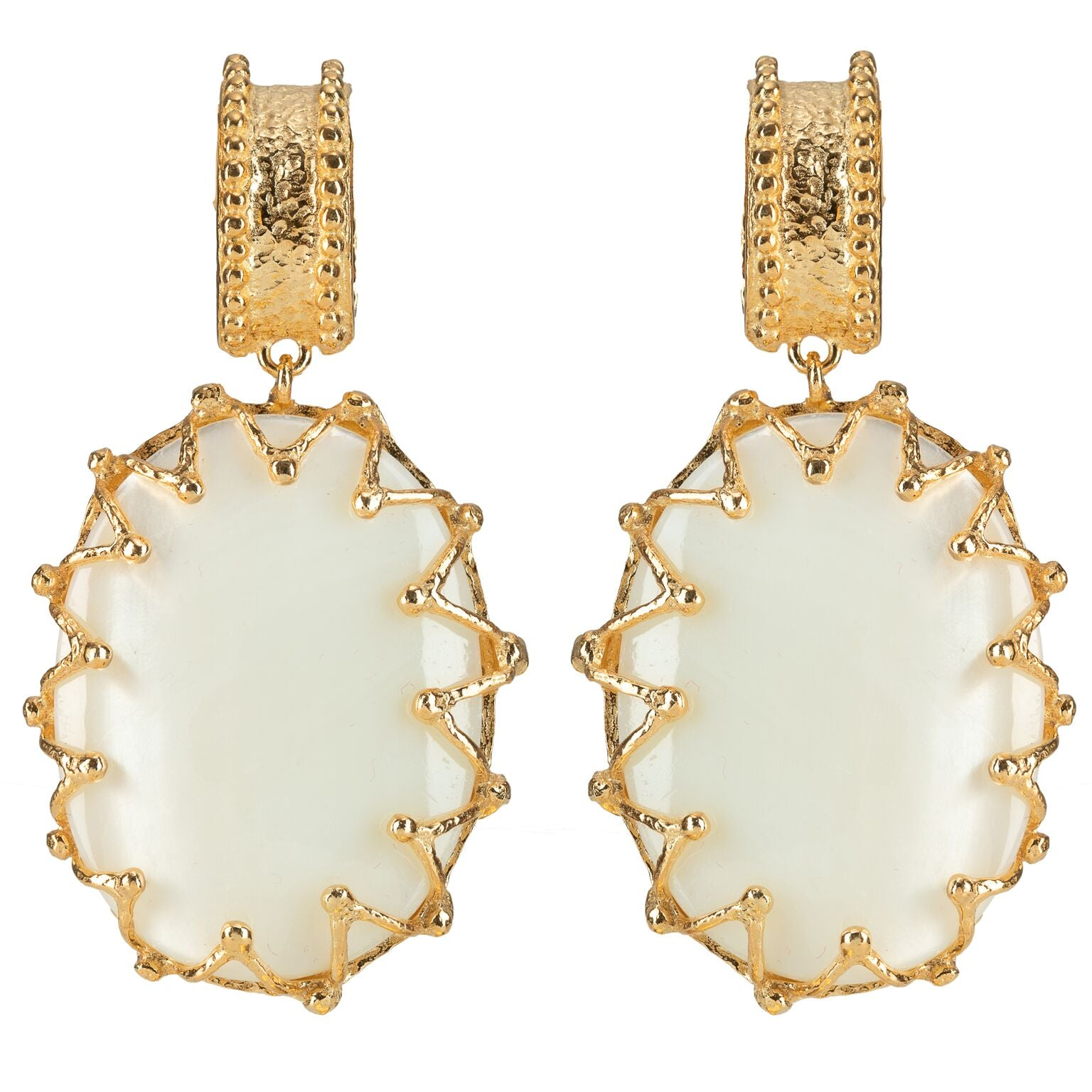 Lola Earrings White