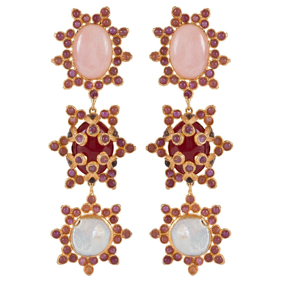 Aemilia Earrings Pale Pink & Pearl