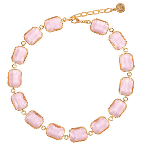 Belaflore Necklace Pink Crystal