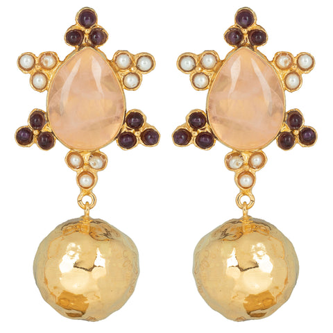 Torres Earrings Pale Pink