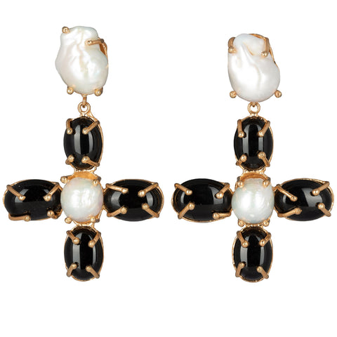 Violante Earrings Black