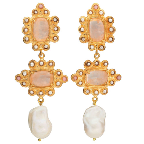 Graciela Earrings Pale Pink