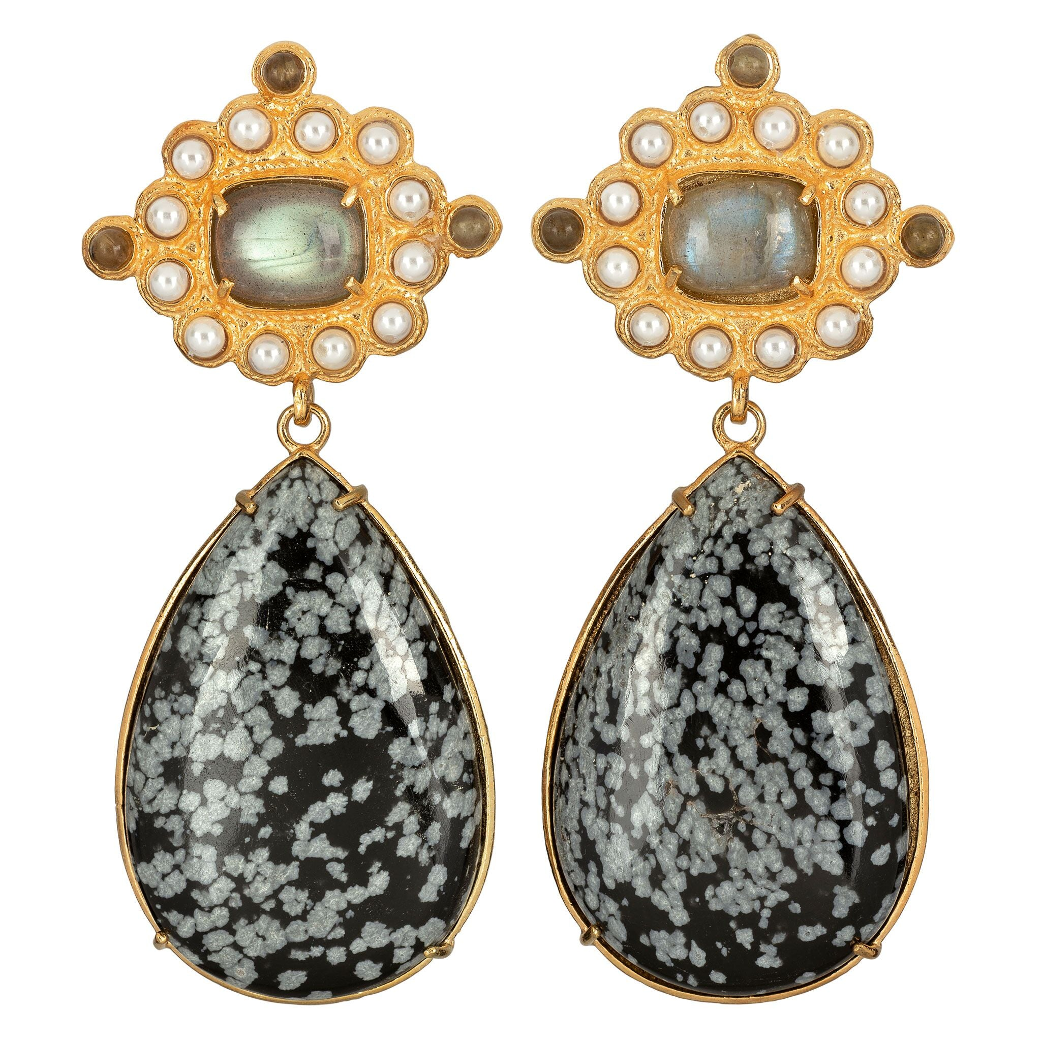 Carmina Earrings Black