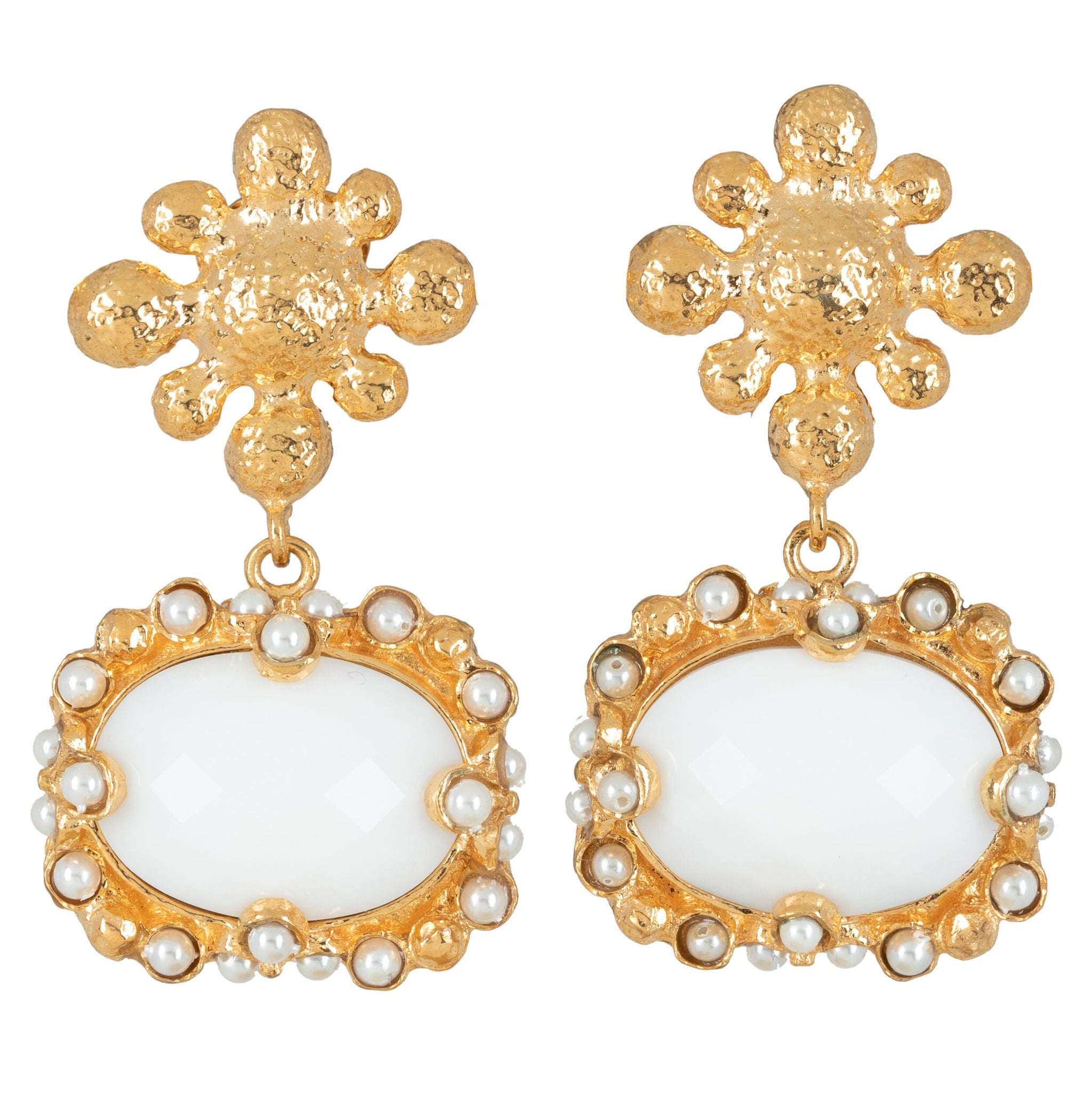 Tesoro Earrings White