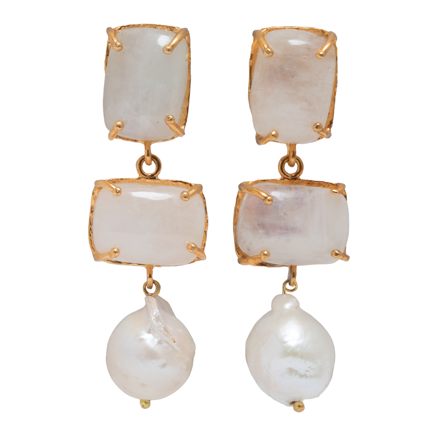 Loren Earrings White