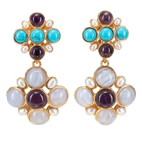 Guinevere Earrings Amethyst
