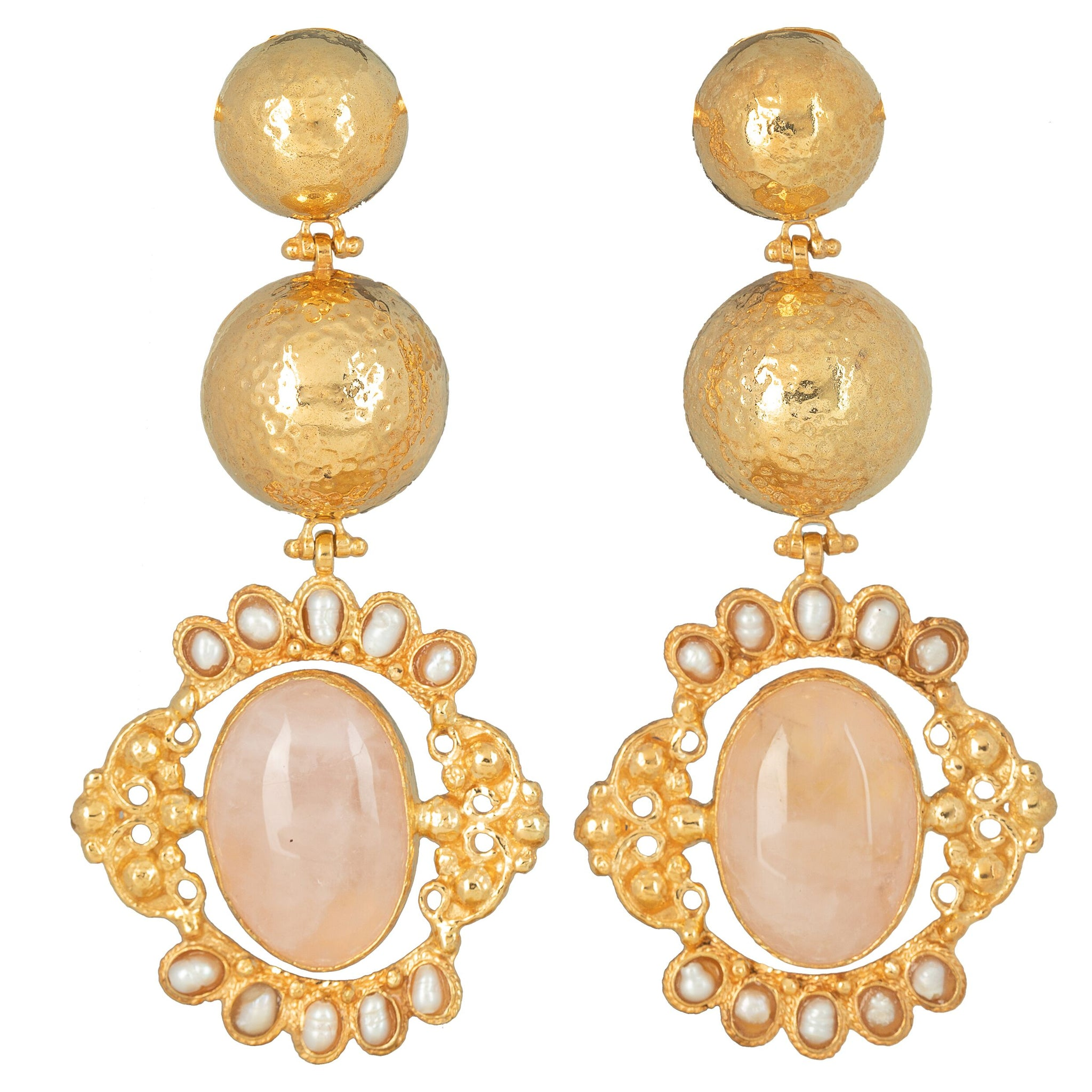 Paloma Earrings Pale Pink