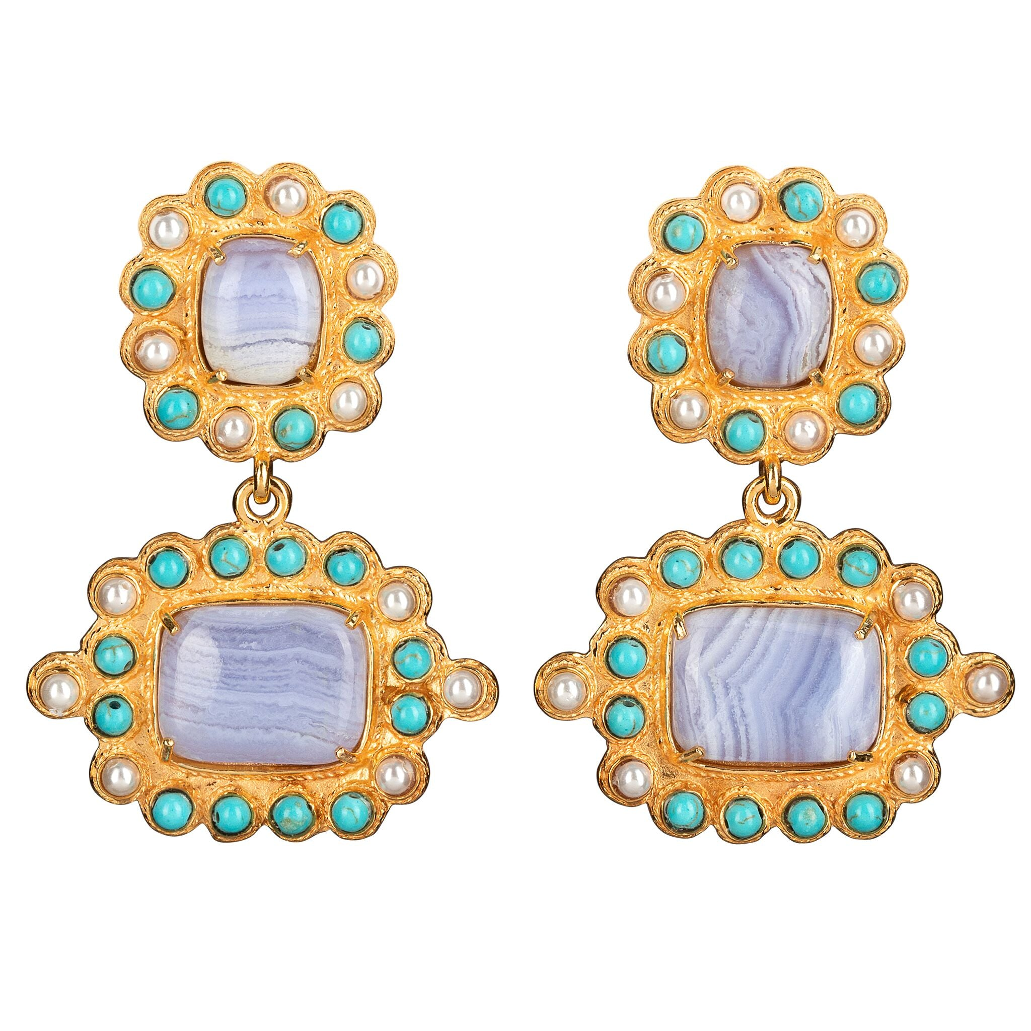 Nina Earrings Pale Blue