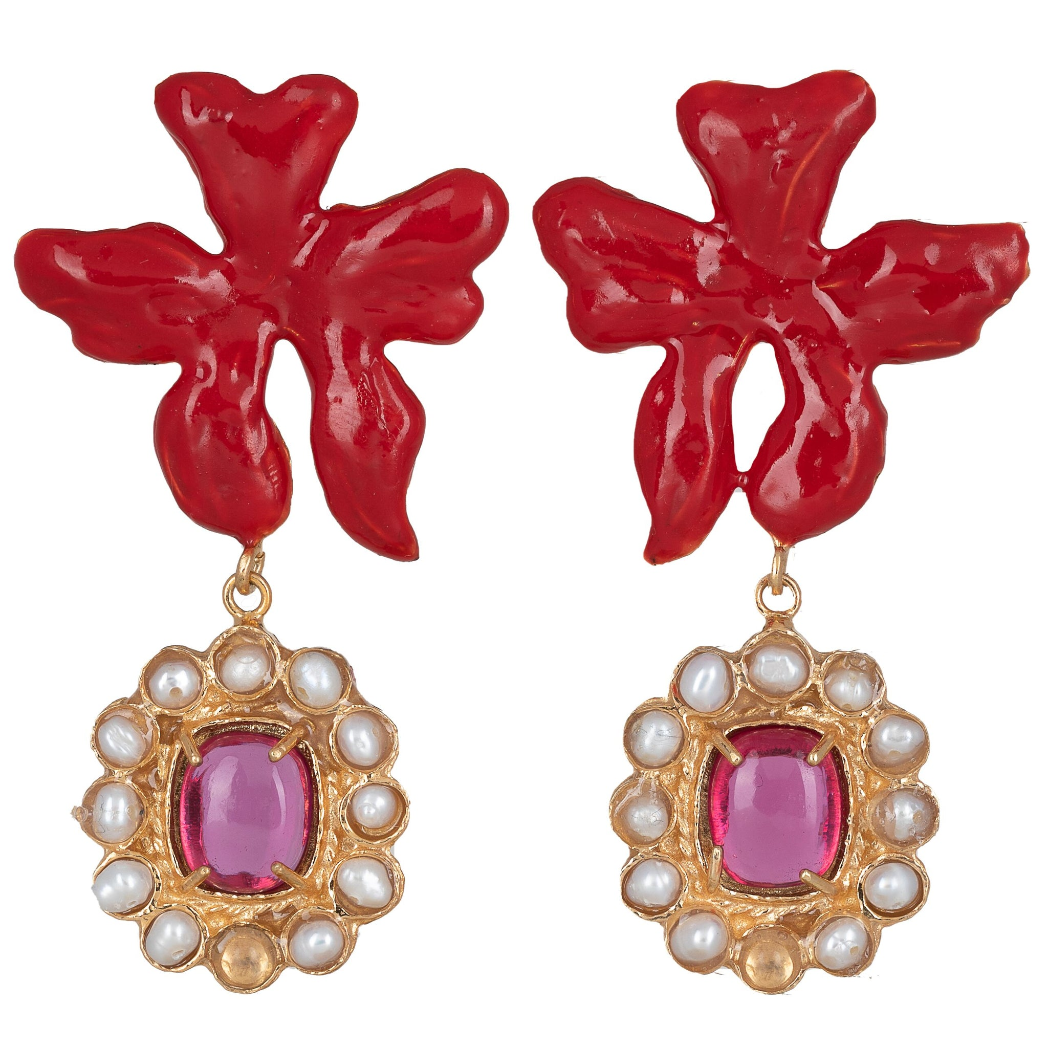 Isabella Earrings Pink