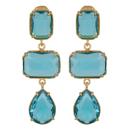 Misha Earrings Blue