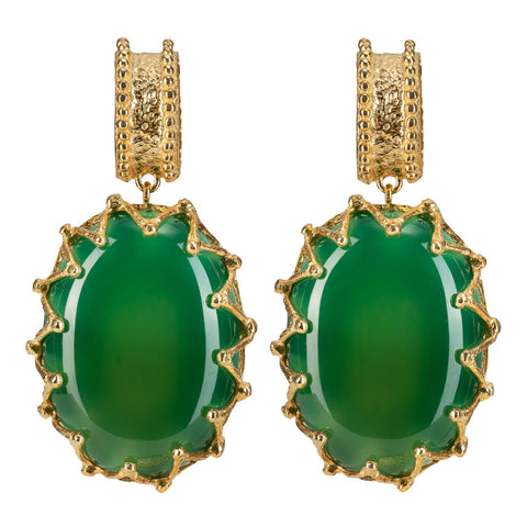 Lola Earrings Green