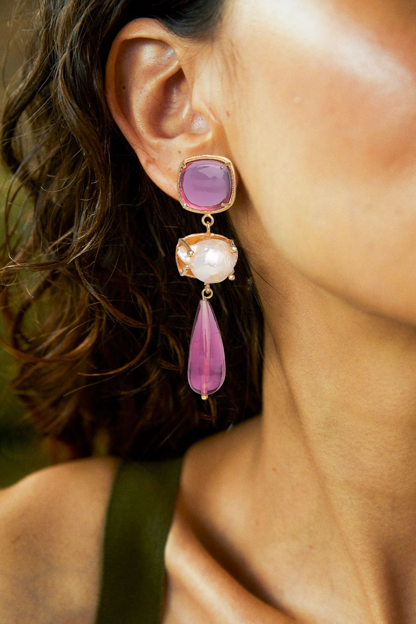 Esmeralda Earrings Pink