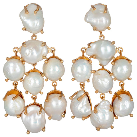 Martina Earrings Pearls