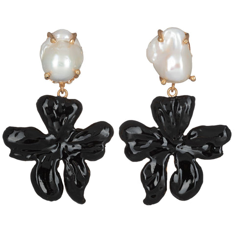 Elisabetta Earrings Black