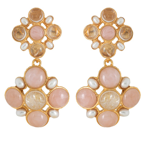 Guinevere Earrings Pale Pink