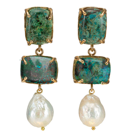 Loren Earrings Chrysocolla