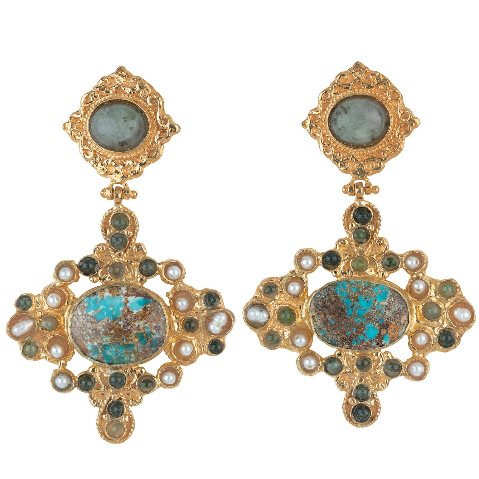 Claudina Earrings Turquoise