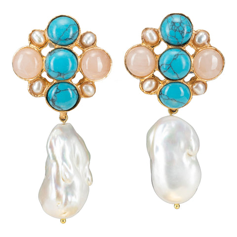 Margot Earrings Turquoise