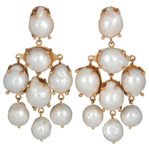 Vittoria Earrings Pearl