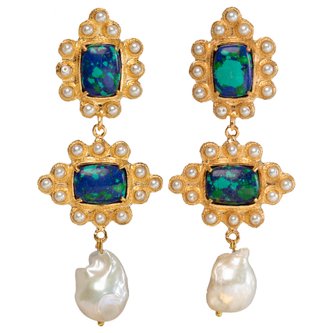 Graciela Earrings Green/Blue