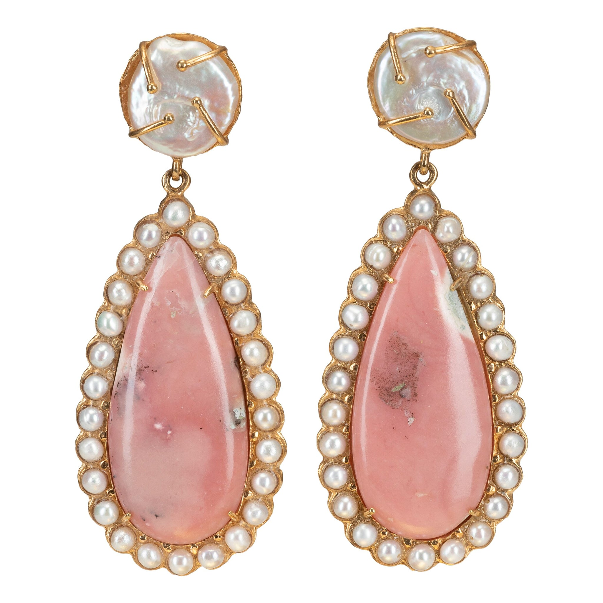 Grazia Earrings Pale Pink