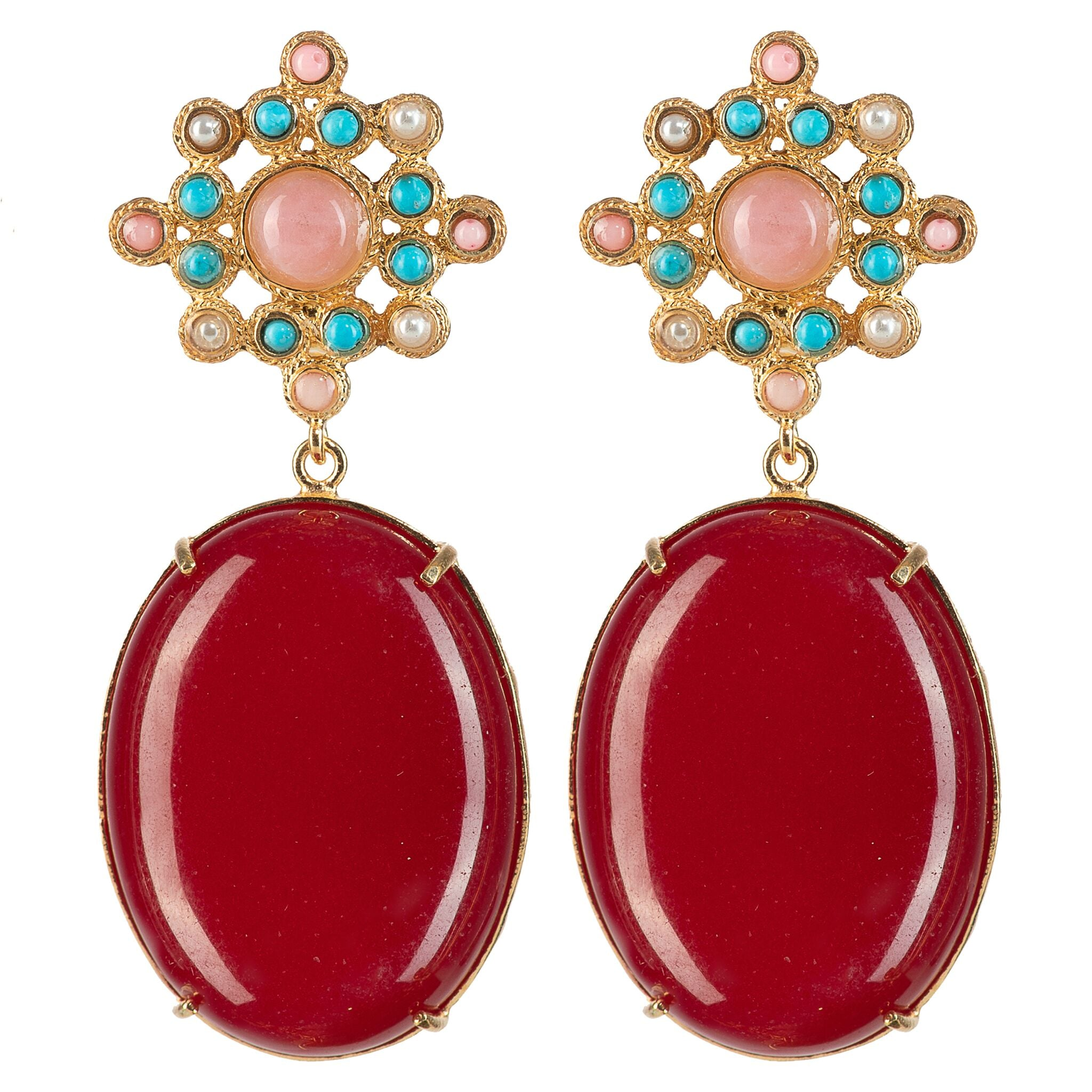 Blanca Earrings Red