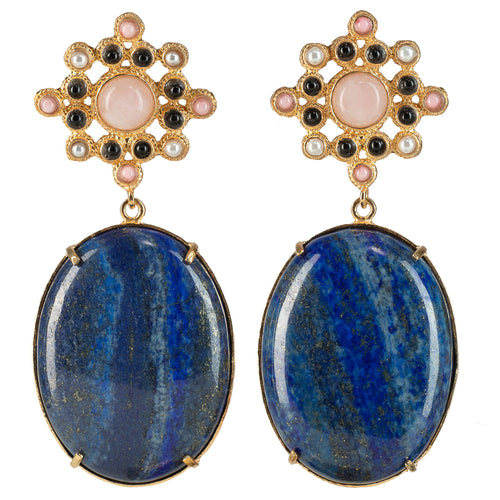Blanca Earrings Lapis