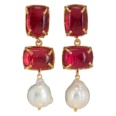Loren Earrings Pink