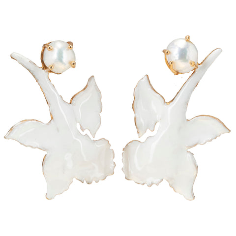 Chanel Earrings White