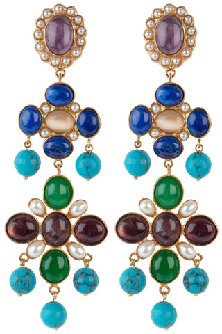 Julietta Earrings Purple