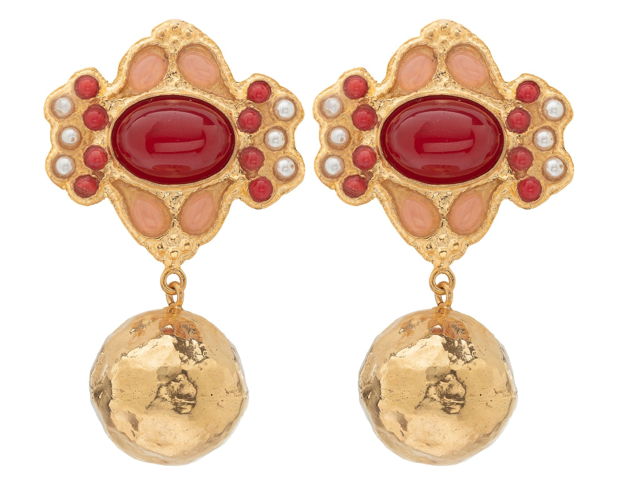 Violetta Earrings Red