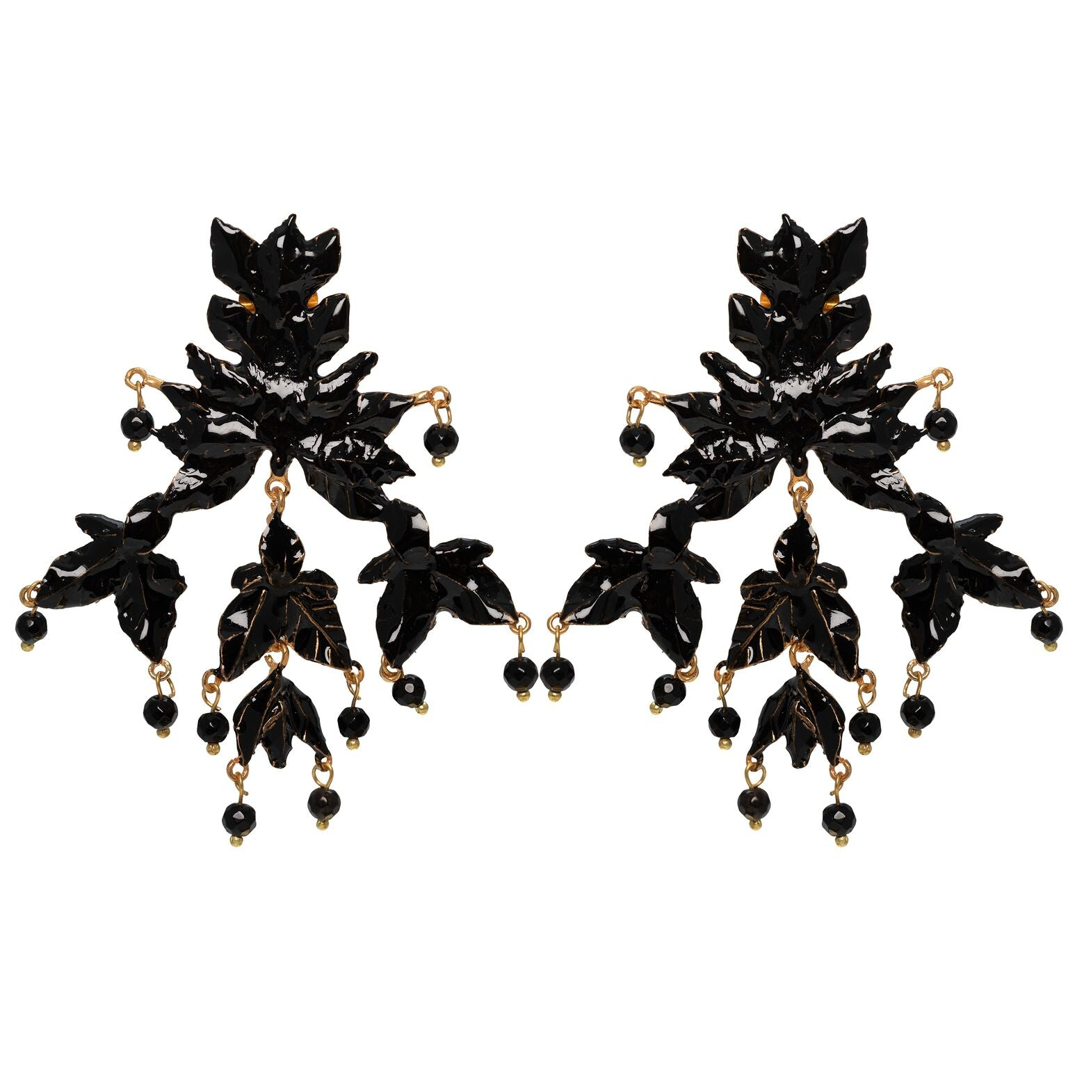 Mini Magdalena Earrings Gold & Black