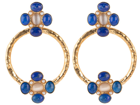 Cruz Earrings Blue