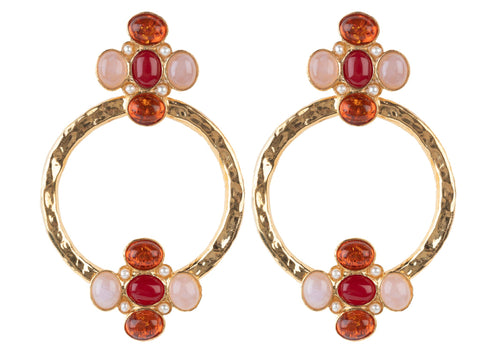 Cruz Earrings Red