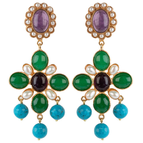 Florencia Earrings Purple