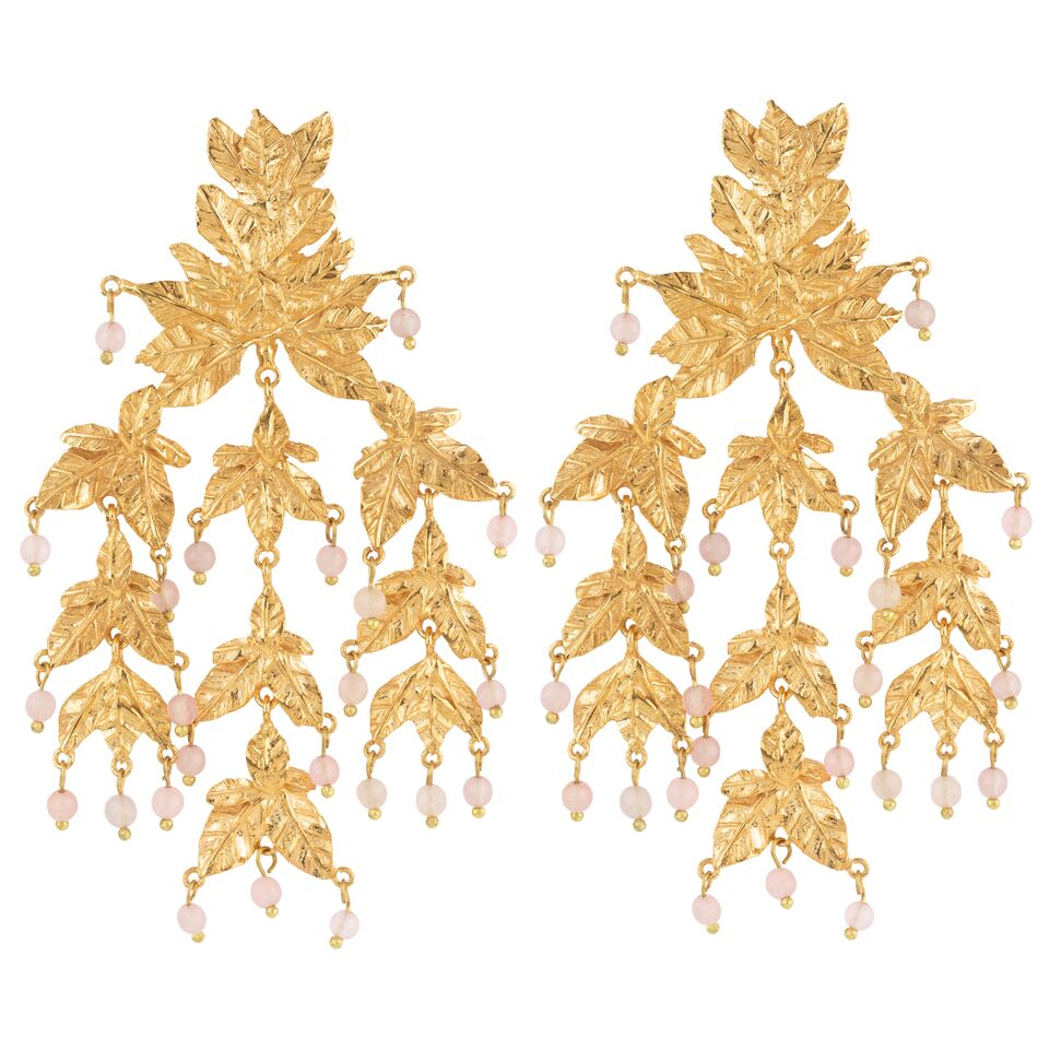 Magdalena Earrings Gold & Pink