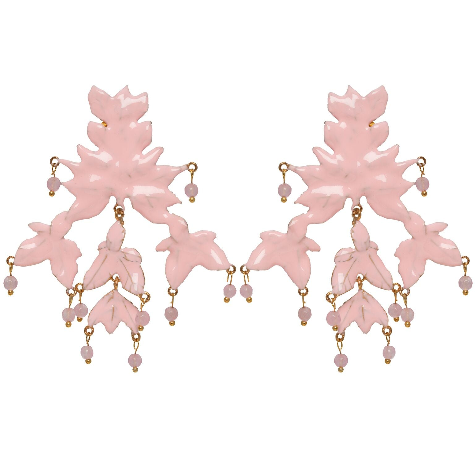Mini Magdalena Earrings Gold & Pink