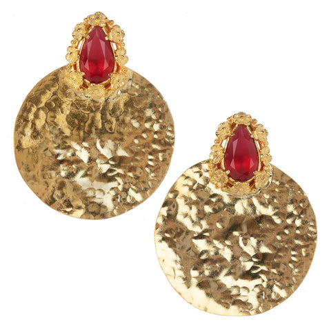 Lopez Earrings Red