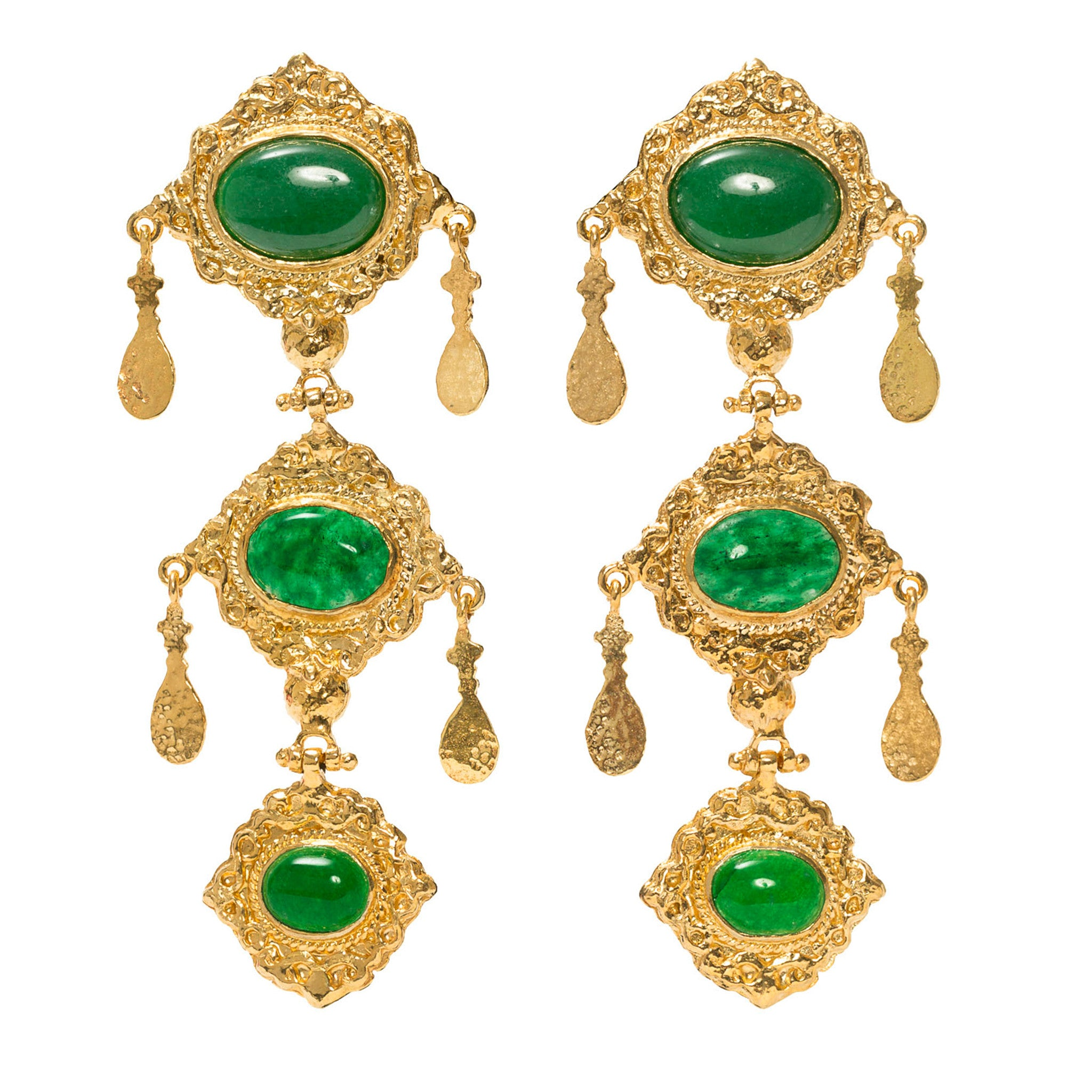 Anais Earrings Green