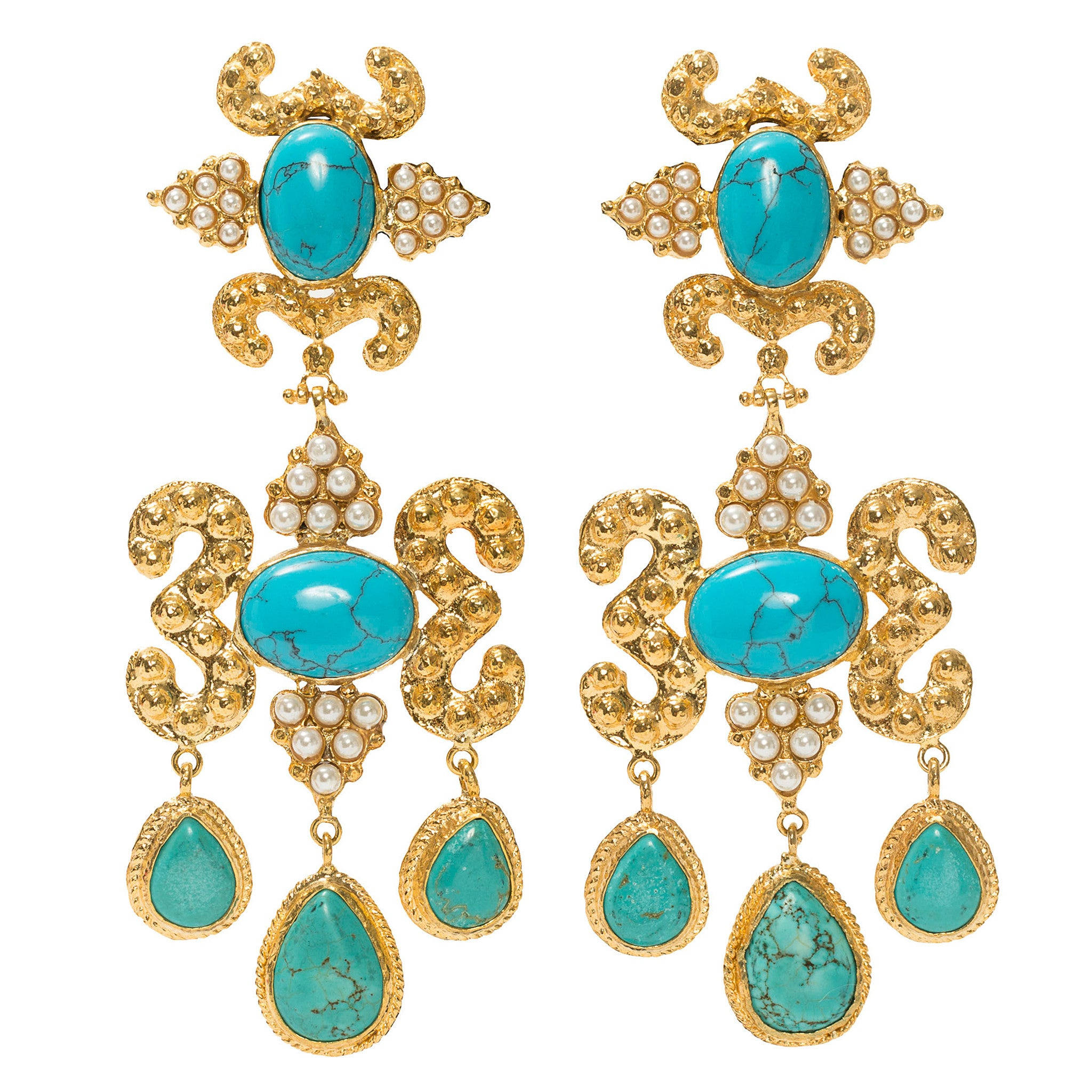 Aceline Earrings Turquoise