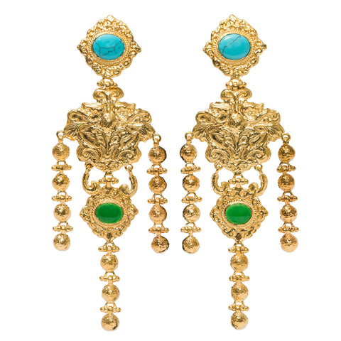 Angelique Earrings - Turquoise