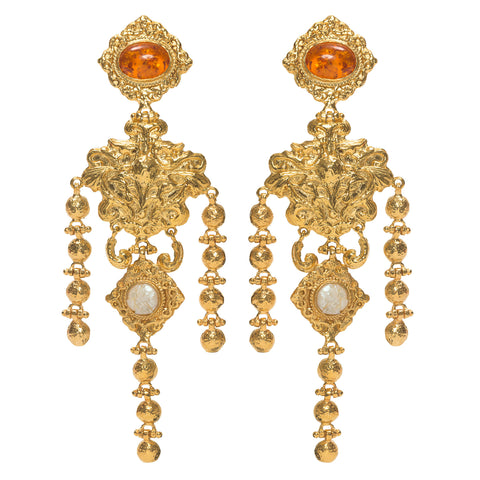 Angelique Earrings Amber