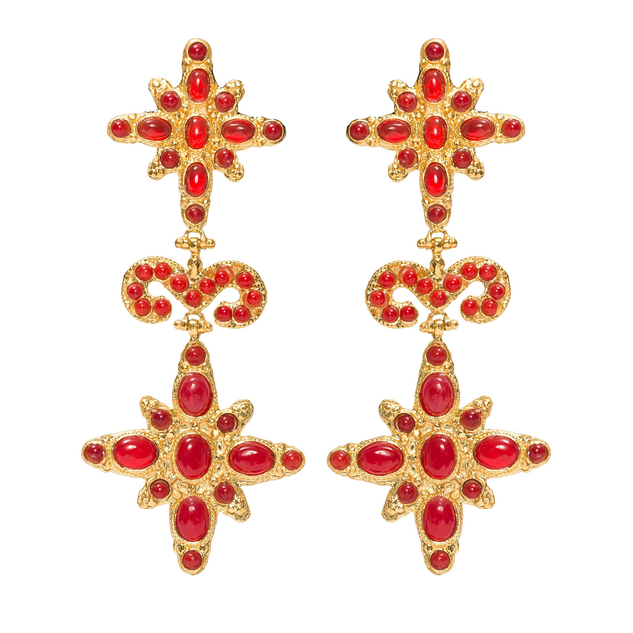 Elsa Earrings Red