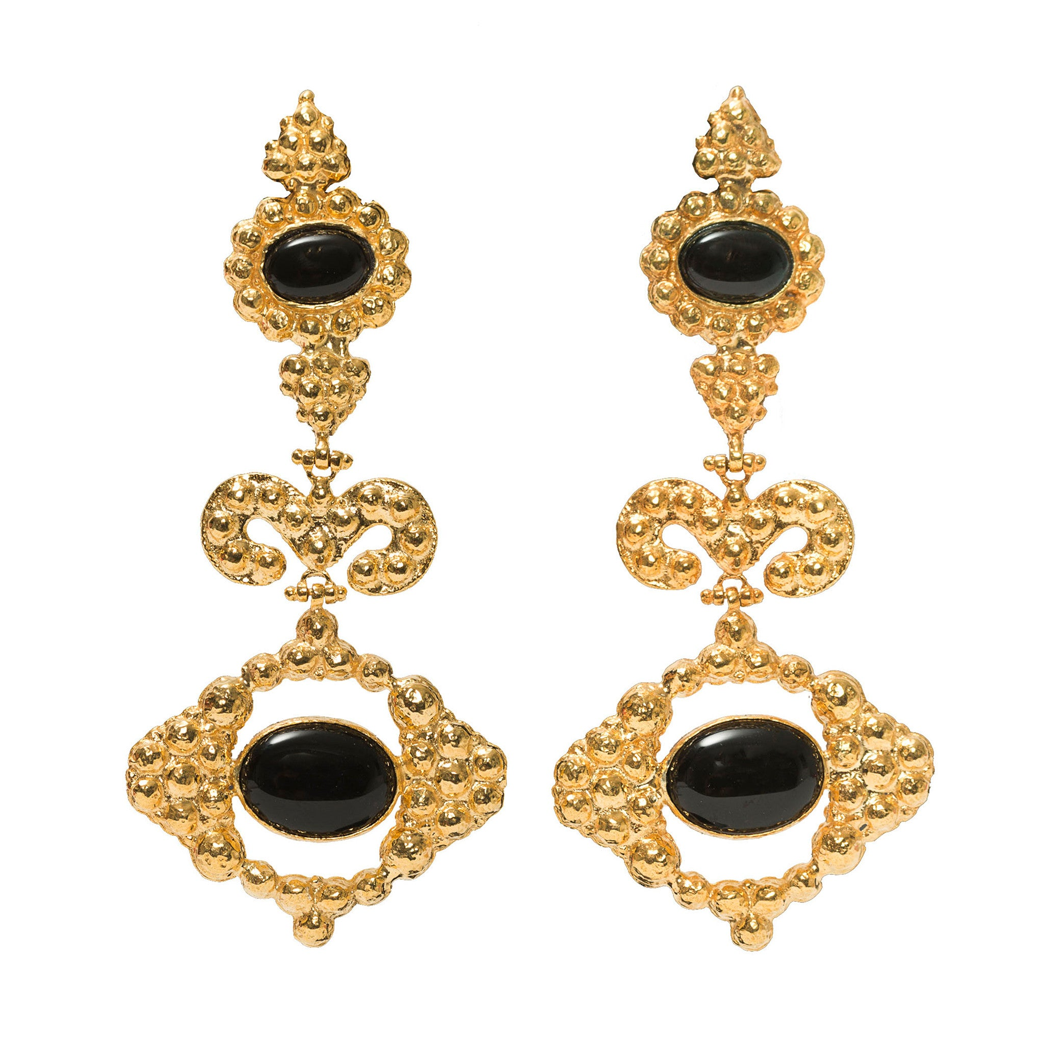 Delphine Earrings Black