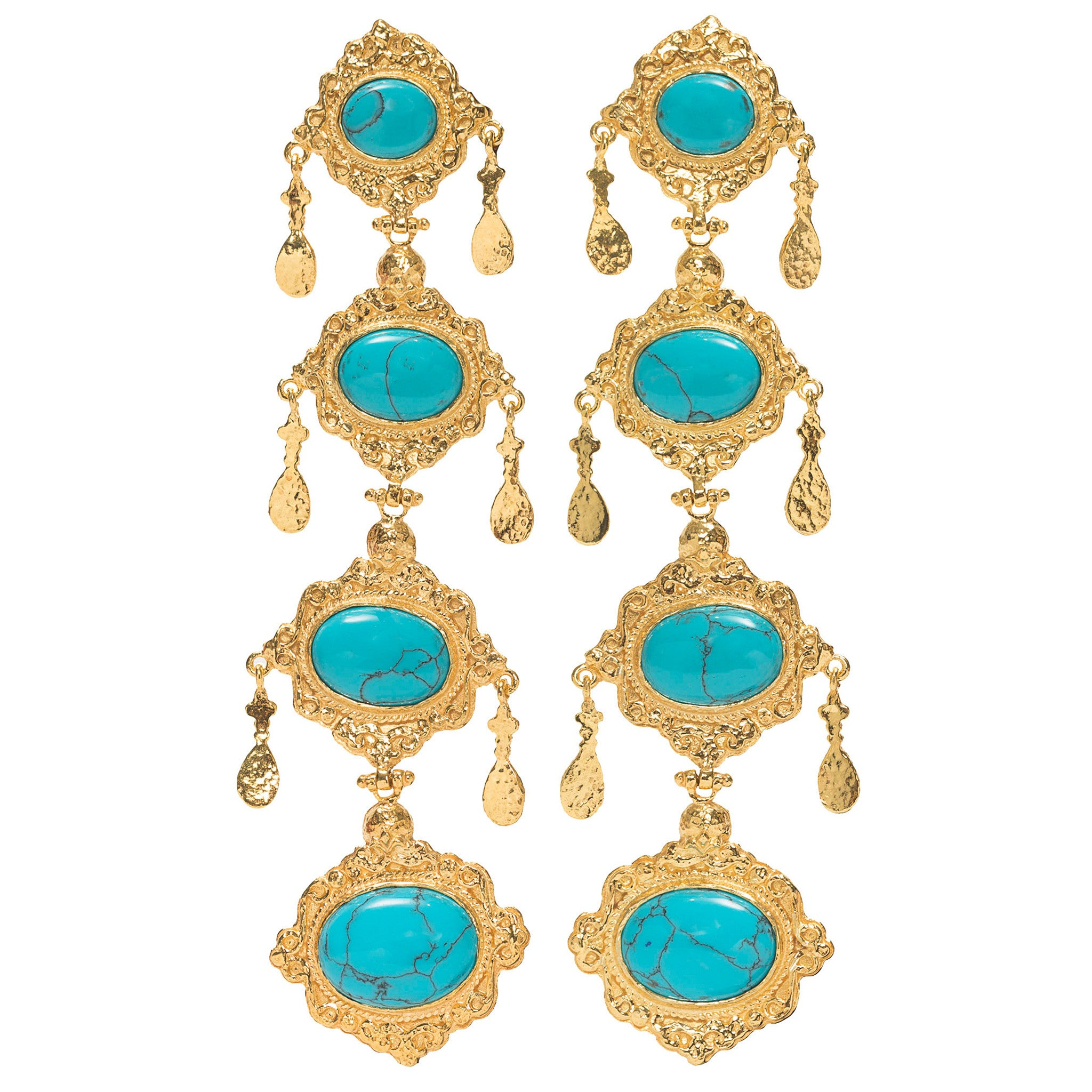Audrey Earrings Turquoise