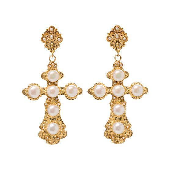Nonia Earrings Pearl